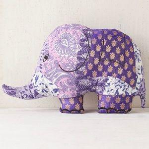 UO Magical Thinking Sari Elephant Pillow